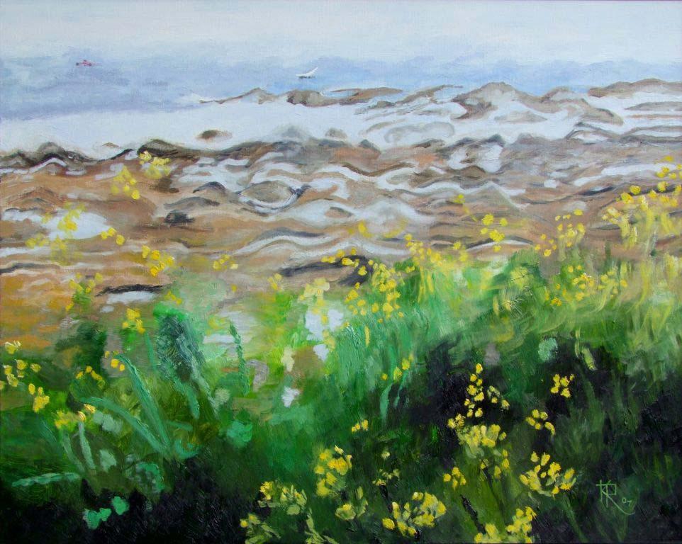 Keith Robinson1.  Arran Shore with Wild Radish Flowers